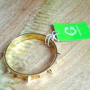 C WONDER Modern Gold Spike Bangle Bracelet